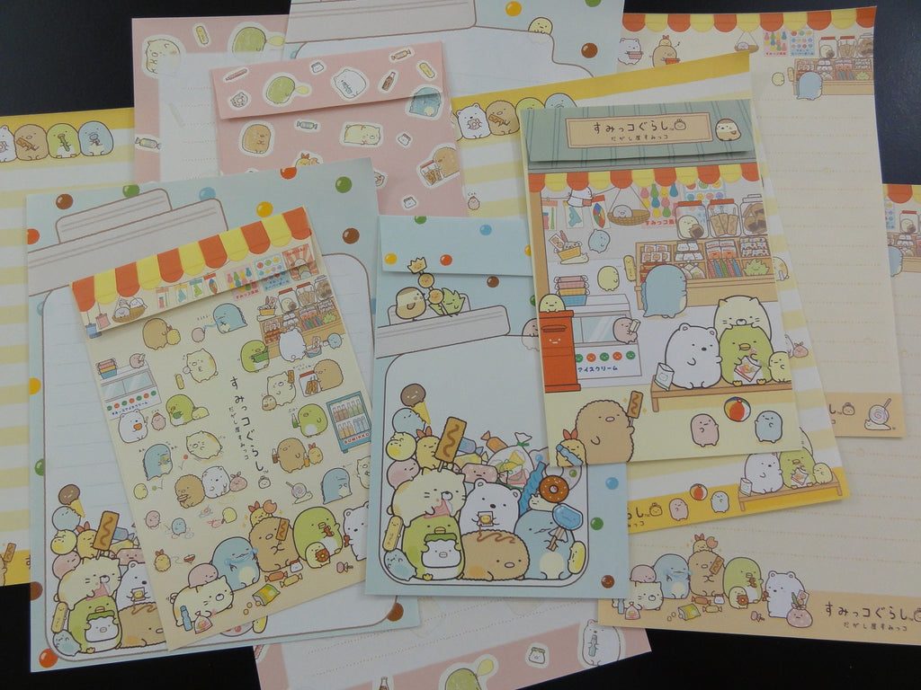 Kawaii Cute San-X Sumikko Gurashi Sweet Snack Shop Letter Sets - A