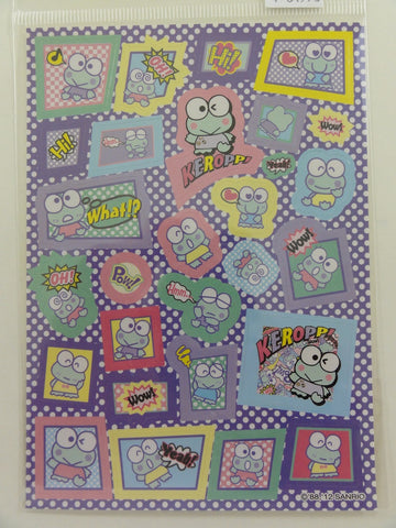 Cute Kawaii Sanrio Kero Keroppi Frog Sticker Sheet - 2012