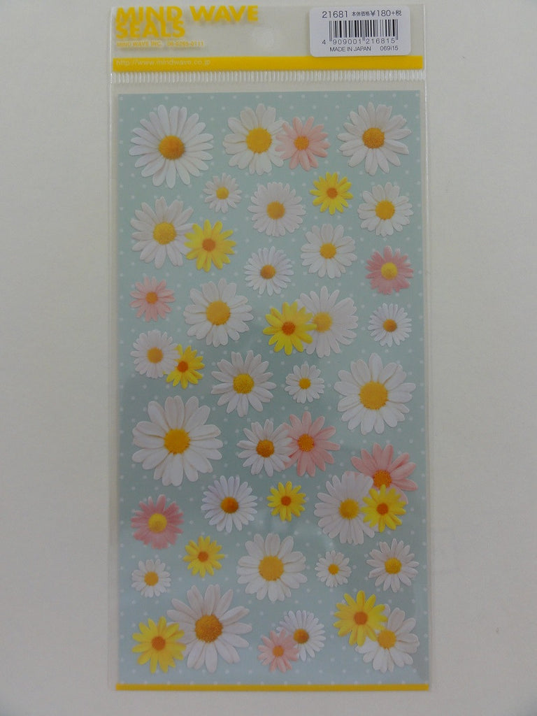 Cute Kawaii Mind Wave Daisy Flower Sticker Sheet