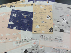Cute Kawaii Kamio Talking Animal Panda Penguin Letter Sets
