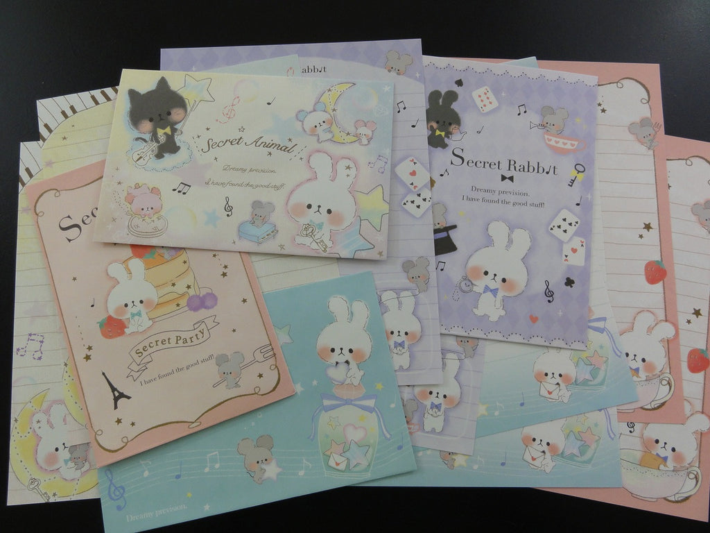 Kawaii Cute Kamio Secret Rabbit Letter Sets - B