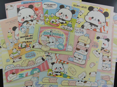 Cute Kawaii Mochi Panda Marshmallow Letter Paper + Envelope Theme Set