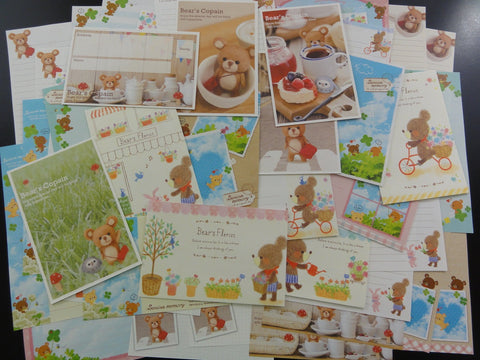 Cute Kawaii Bear Letter Paper + Envelope Theme Set