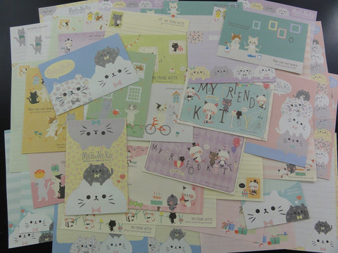 Cat / Kitten / Kitty Letter Paper + Envelope Theme Set