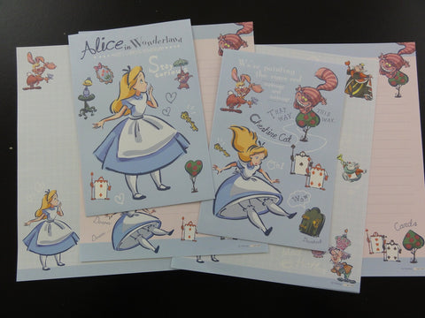 Cute Kawaii Alice in Wonderland Letter Sets - A