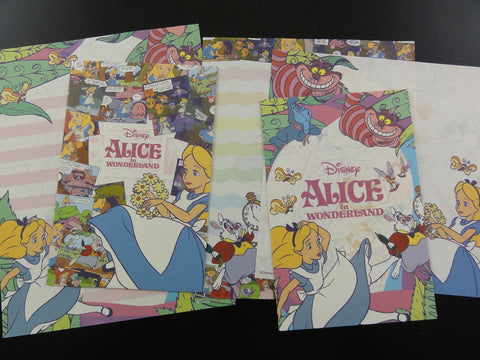 Cute Kawaii Alice in Wonderland Letter Sets - B