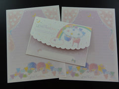 Cute Kawaii Sanrio Little Twin Stars Seven Baby Bears Letter Set - Rare