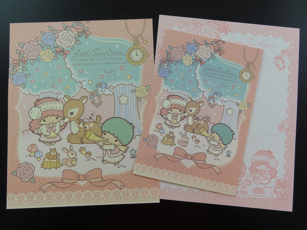 Cute Kawaii Sanrio Little Twin Stars One Winter Day in the Forest Letter Set - Rare