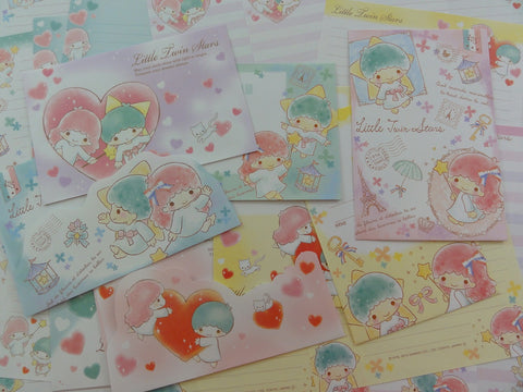Cute Kawaii Sanrio Little Twin Stars Letter Paper + Envelope Theme Set