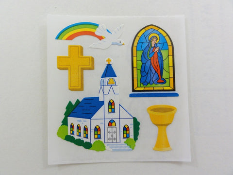 Sandylion Church Cross Sticker Sheet / Module - Vintage & Collectible