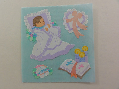 Sandylion Baby Baptism Sticker Sheet / Module - Vintage & Collectible