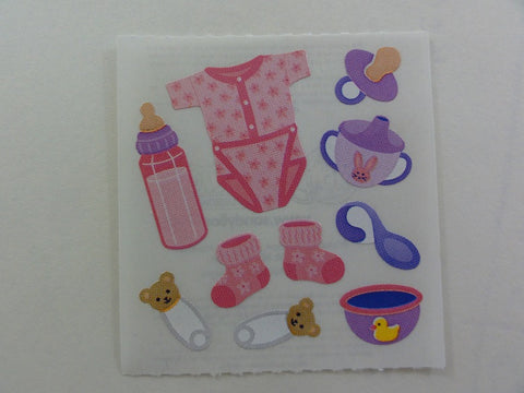 Sandylion Baby Girl Pink Sticker Sheet / Module - Vintage & Collectible