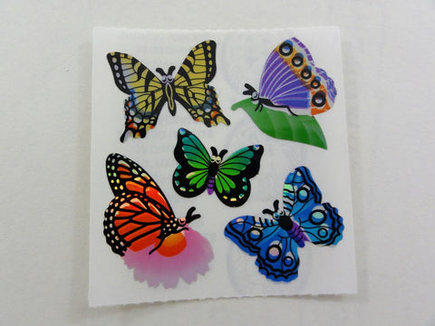 Sandylion Butterfly Shiny Sticker Sheet / Module - Vintage & Collectible
