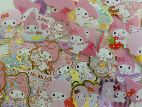 Cute Kawaii Sanrio My Melody Flake Sack Stickers - 50 pcs