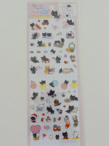 Cute Kawaii San-X Kutusita Nyanko Cat Kitten Sticker Sheet