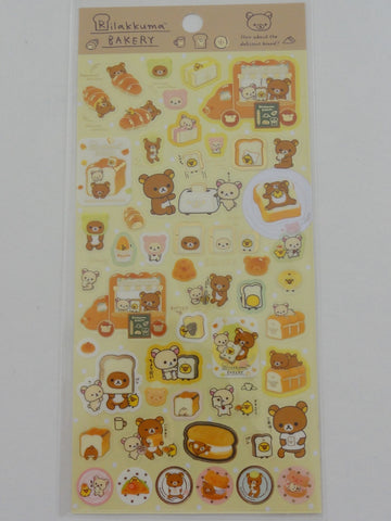 Cute Kawaii San-X Rilakkuma Bakery Sticker Sheet - A