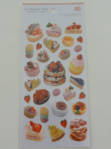 Cute Kawaii Mind Wave Strawberry Cake Pastry Photo Sticker Sheet