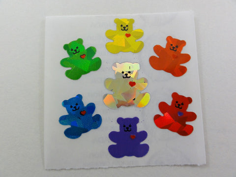 Sandylion Bears Prismatic Sticker Sheet / Module - Vintage & Collectible