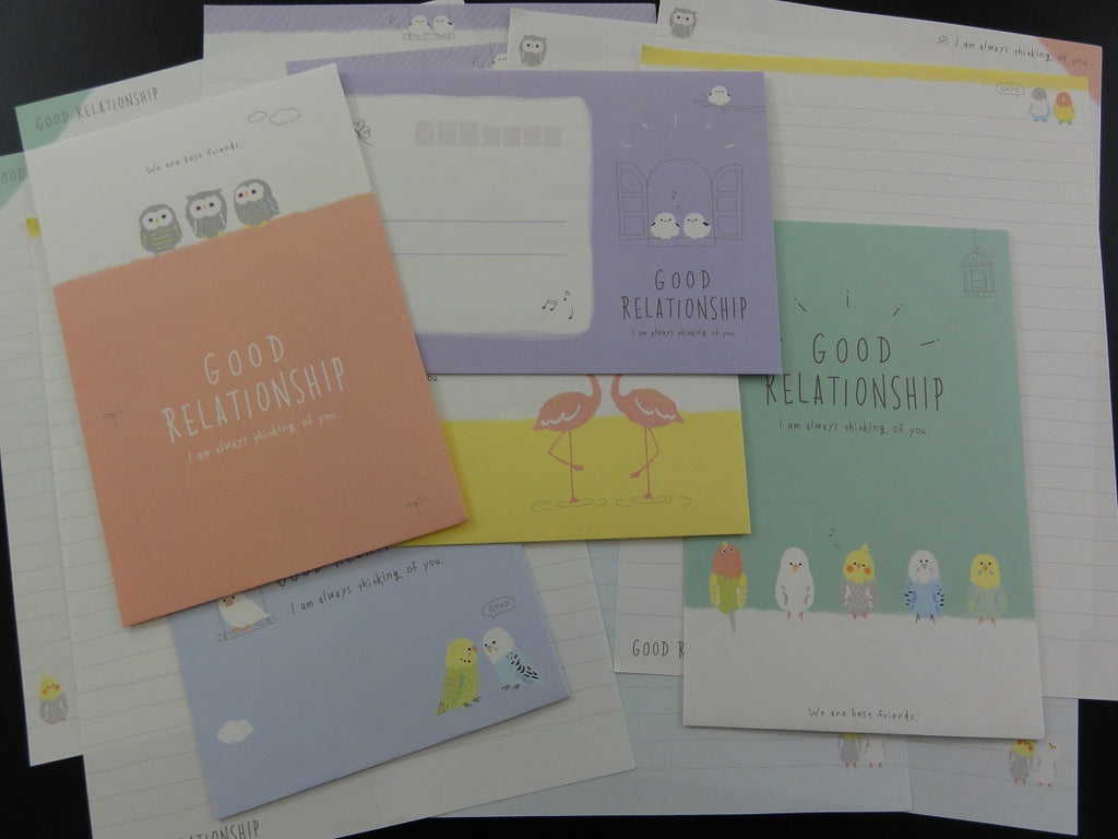Cute Kawaii Crux Birds and Friends Letter Sets