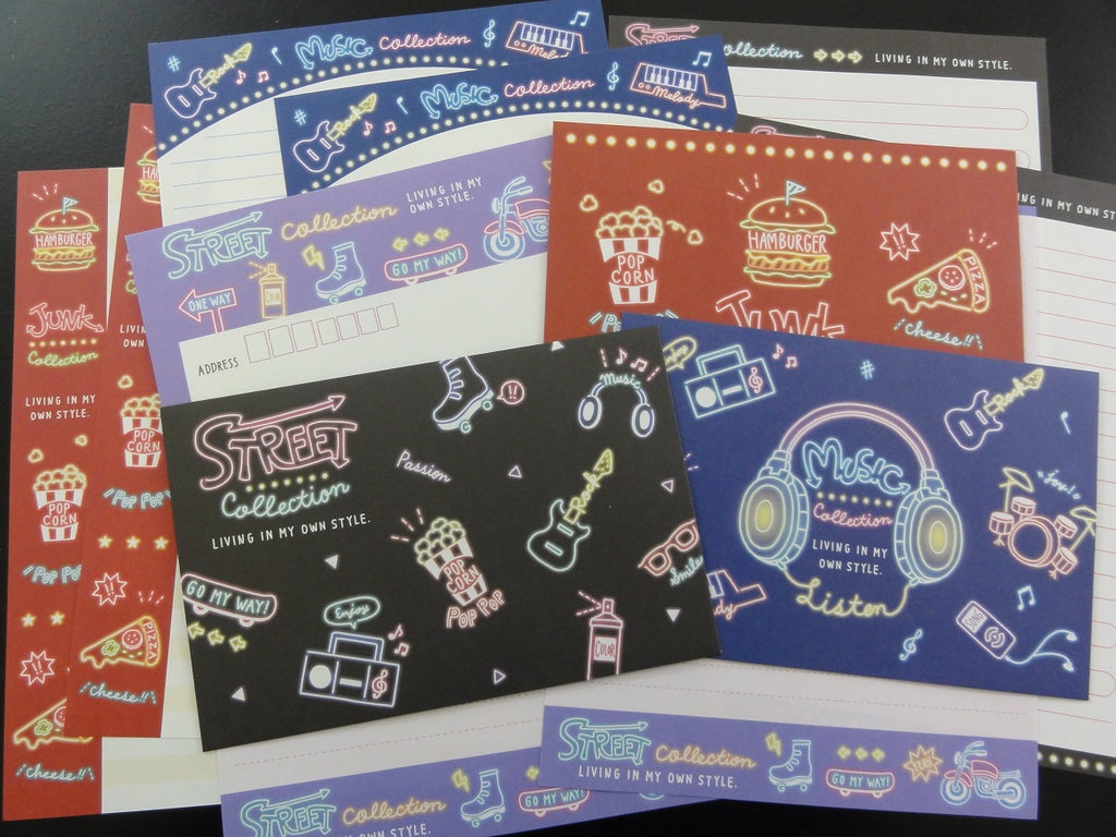Cute Kawaii Kamio Street Music Collection Letter Sets