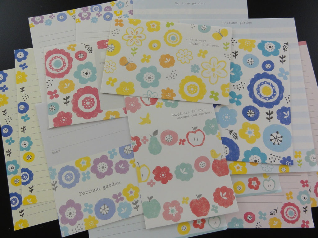 Cute Kawaii Crux Garden Flowers Letter Sets