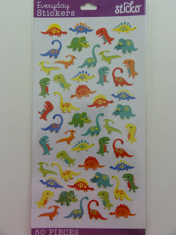 Kawaii Cute Sticko Dinosaur Dino Sticker Sheet