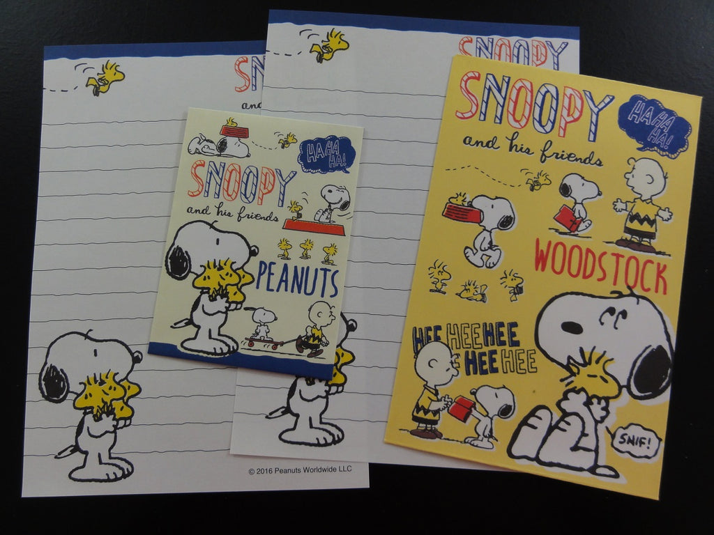 Cute Kawaii Kamio Peanuts Snoopy Mini Letter Sets - D