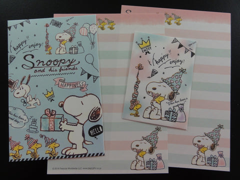 Cute Kawaii Kamio Peanuts Snoopy Mini Letter Sets - C