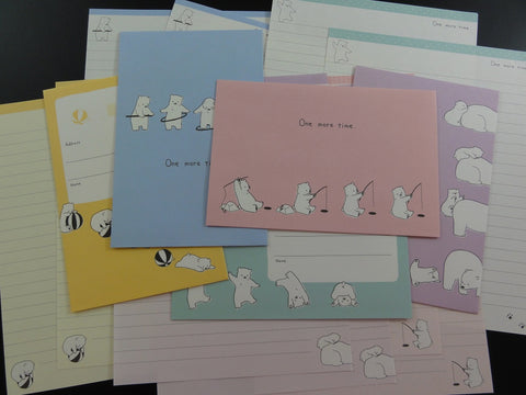Cute Kawaii Bear Fun Day One More Time Letter Sets