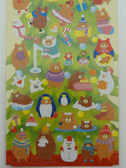 Cute Kawaii Kamio Bear Christmas Winter Sticker Sheet
