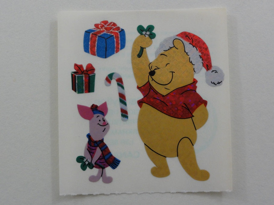 Sandylion Winnie the Pooh Bear Glitter Sticker Sheet / Module - Vintage & Collectiblev - D