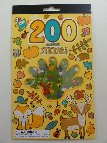 Cute Kawaii Harvest Fall Thanksgiving Autumn Pumpkin Leaves Sticker Book - for Scrapbook Planner