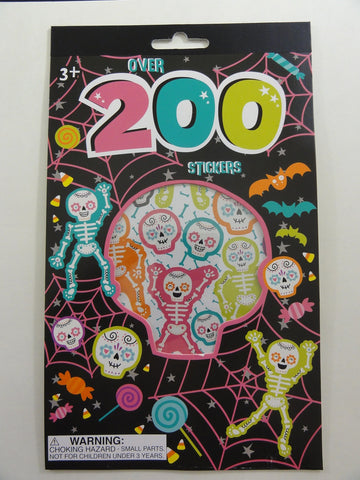 Cute Kawaii Halloween Skull Ghost Pumpkin Spider Candy Sticker Book - for Scrapbook Planner
