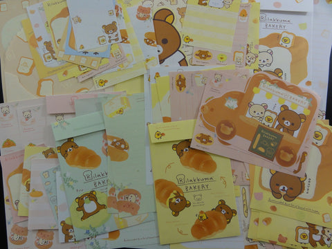 San-X Rilakkuma Bear Bread Bakery Stationery Set