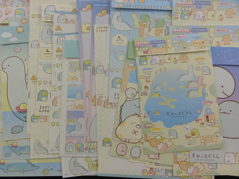 Kawaii Cute San-X Sumikko Gurashi Dino Letter Writing Paper + Envelope Theme Stationery Set