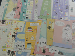 Cute Kawaii Cat Kitten Writing Letter Paper + Envelope Theme Set Penpal