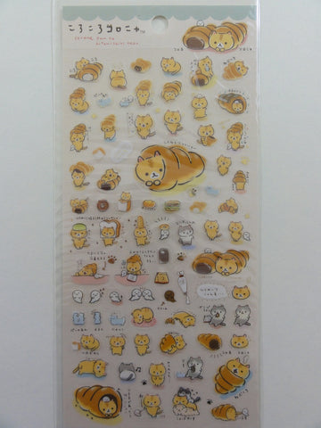 Cute Kawaii San-X Coro Nyanko Warm Bread and Cat Sticker Sheet - A