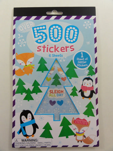 Cute Kawaii Christmas Winter Holiday Sticker Book - for Scrapbook Planner