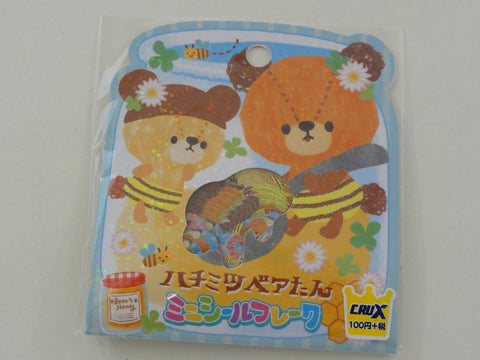 Cute Kawaii Crux Honey Bee Bear Stickers Flake Sack