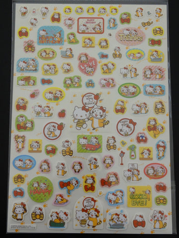 Cute Kawaii Sanrio Hello Kitty x Rascal Sticker Large Sheet - 2016