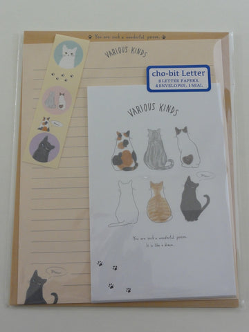 Cute Kawaii Crux Various Cats Letter Set Pack