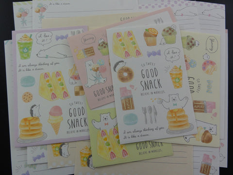 Cute Kawai Crux Good Snack Letter Sets