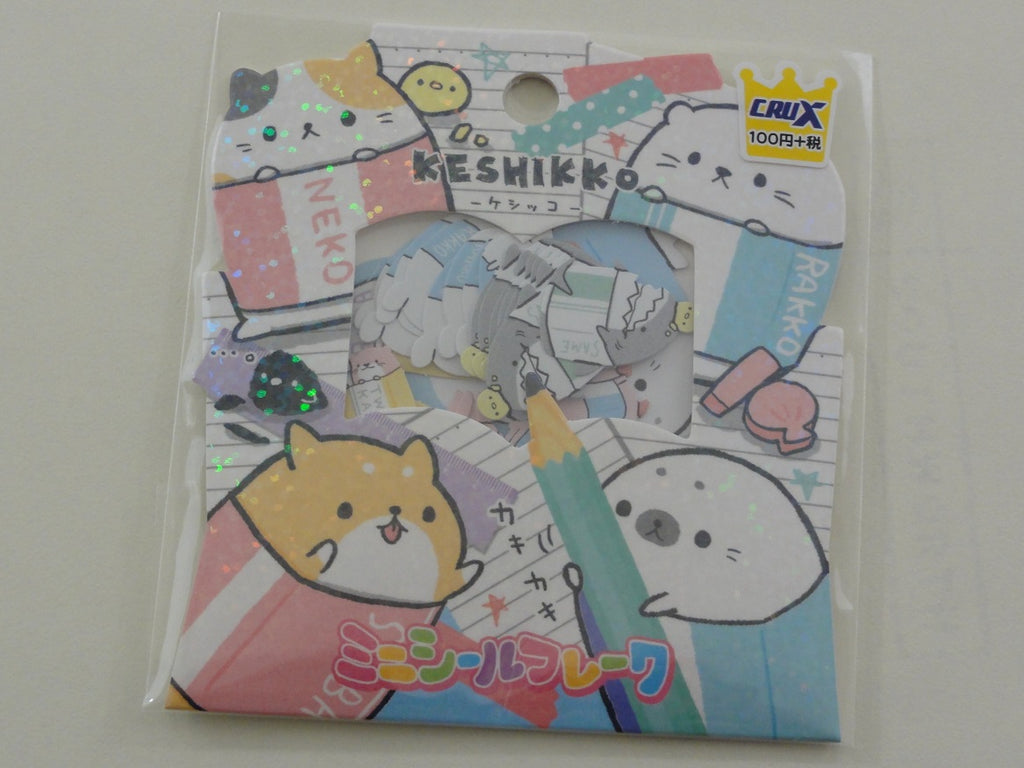 Cute Kawaii Crux Keshikko Bundled Animal Stickers Flake Sack - A