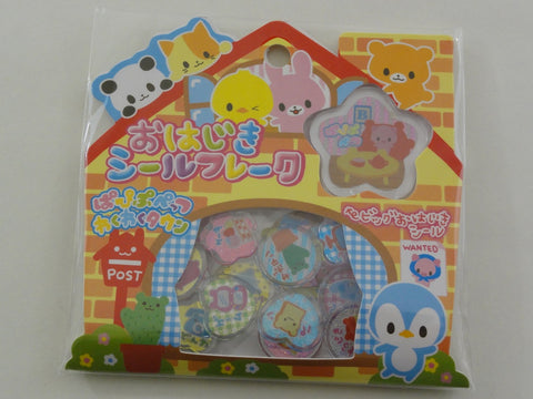 Cute Kawaii Crux Pet House Button Flake Sticker Sack
