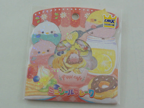 Cute Kawaii Crux Pippi Cafe Bird Flake Stickers Sack