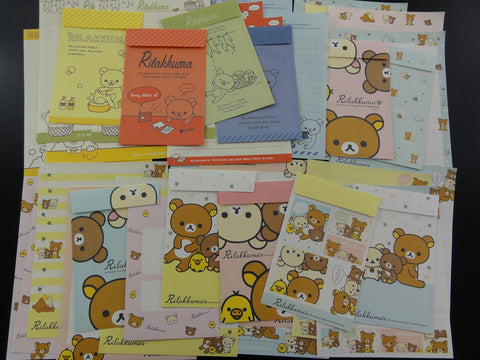 San-X Rilakkuma Bear Home and Friends Theme Letter Paper + Envelope Theme Set