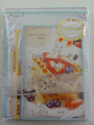 Cute Kawaii Crux Delicious Days Rabbit Letter Set Pack