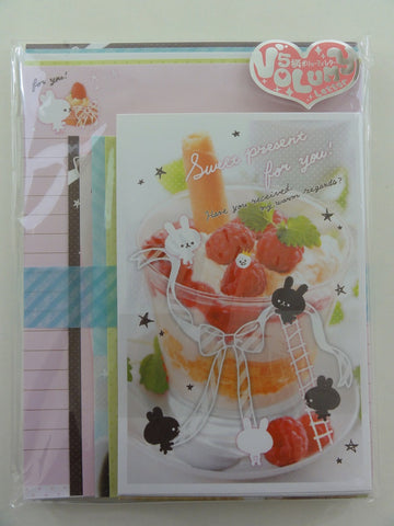 Cute Kawaii Q-Lia Sweet Present Rabbit Letter Set Stationery Pack