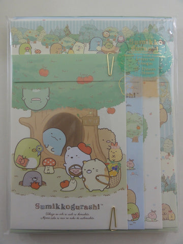 Cute Kawaii San-X Sumikko Gurashi Apple Tree Garden Letter Set Pack - A