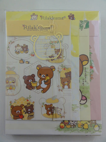 Cute Kawaii San-X Rilakkuma Honey Bee Letter Set Pack
